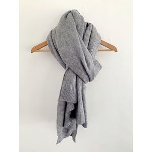 Gray Urban Outfitters knit blanket scarf